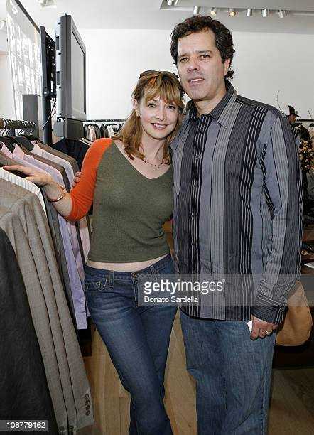 Sharon Lawrence and Dr Tom Apostle during 5th Annual John Varvatos Stuart House Benefit Presented by Converse at John Varvatos Boutique in Los...