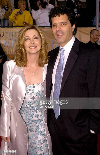 Sharon Lawrence and Dr Tom Apostle during The 10th Annual Screen Actors Guild Awards Arrivals at The Shrine Auditorium in Los Angeles California...