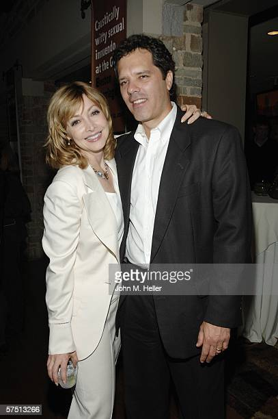 Sharon Lawrence and Dr Tom Apostle in the lobby of the Geffen Playhouse for the Backstage at the Geffen's Annual Gala on May 1 2006 in Westwood...