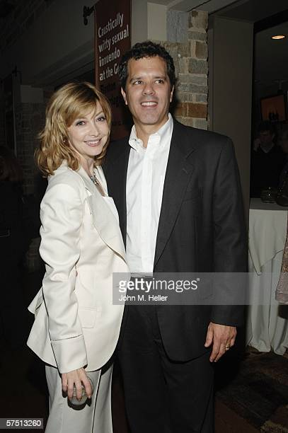 Sharon Lawrence and DrTom Apostle in the lobby of the Geffen Playhouse for the Backstage at the Geffen's Annual Gala on May 1 2006 in Westwood...