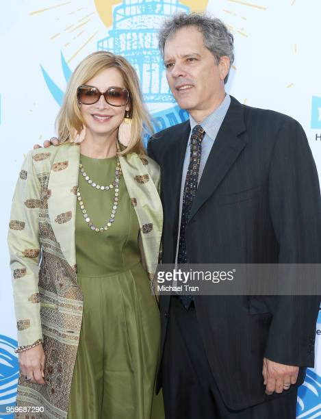 Sharon Lawrence and Tom Apostle attend the 2018 Heal The Bay's 'Bring Back The Beach' Awards Gala held at The Jonathan Club on May 17 2018 in Santa...
