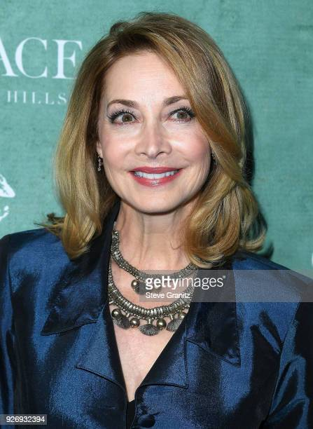Sharon Lawrence arrives at the 11th Annual Celebration Of The 2018 Female Oscar Nominees Presented By Women In Film at Crustacean on March 2 2018 in...