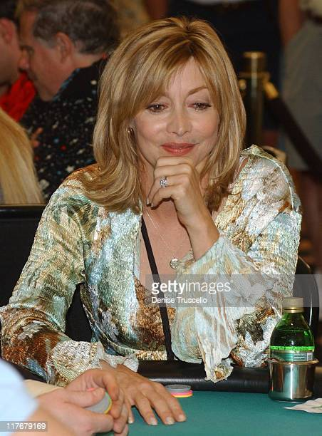Sharon Lawrence during Celebrity Poker Tournement to Benefit Professional Comedians Fund at The Golder Nugget in Las Vegas Nevada