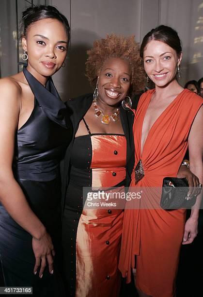 Sharon Leal Lisa Nichols and Rebecca Gayheart during Stuart Weitzman Hosts an Evening Honoring Jennifer Hudson at the Hollywood Roosevelt Hotel's...