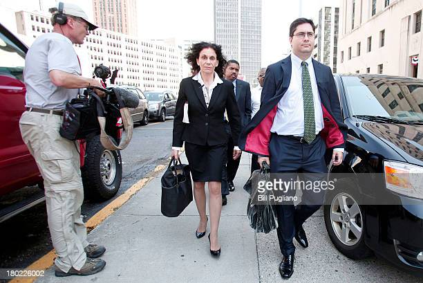 Sharon Levine lead attorney for the American Federation of State County and Municipal Employees union in the City of Detroit bankruptcy case walks...