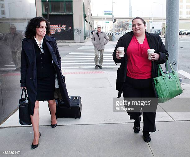 Sharon Levine outside council for the American Federation of State County and Municipal Employees and Tiffany Ricci of AFSCME arrive at the US...
