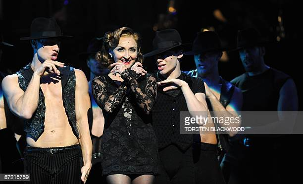 Sharon Millerchip plays the part of Roxie Hart during the final rehearsal of the hit musical 'Chicago' in Sydney on May 14, 2009. The plot follows...