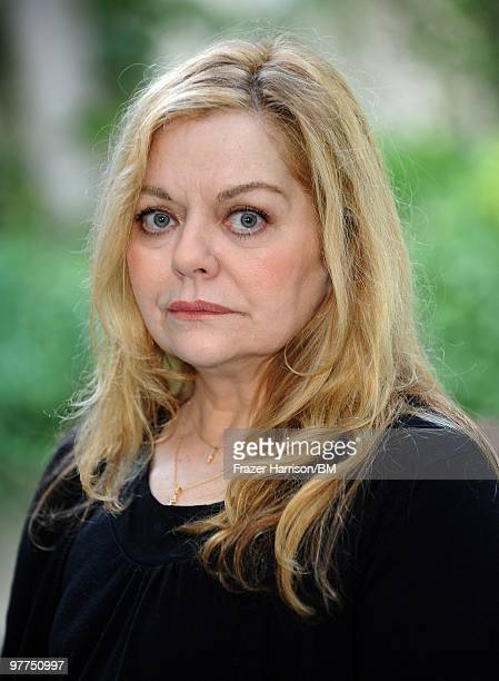 Sharon Murphy mother of deceased actress Brittany Murphy during a portrait shoot on January 13 2010 in Hollywood California