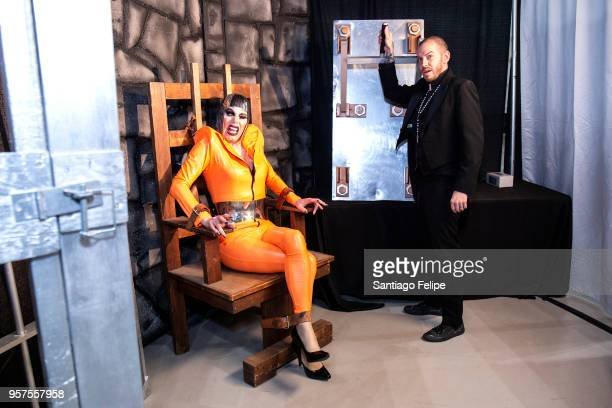 Sharon Needles and Chad O' Connell at the 4th Annual RuPaul's DragCon at Los Angeles Convention Center on May 11 2018 in Los Angeles California