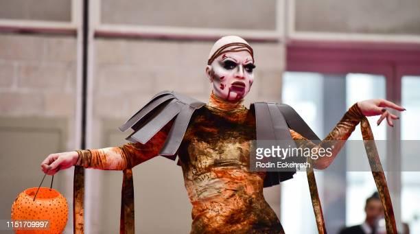 Sharon Needles walks the pink carpet at RuPaul's DragCon LA 2019 at Los Angeles Convention Center on May 25 2019 in Los Angeles California