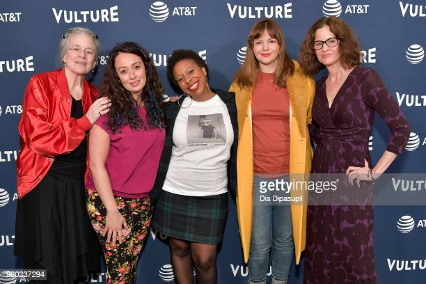 Sharon Olds Jennine Capo Crucet Morgan Parker Amber Tamblyn and Ally Sheedy attend the Vulture Festival Presented By ATT Milk Studios Day 1 at Milk...