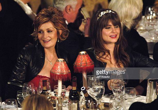 Sharon Osbourne and Aimee Osbourne during 21st Annual Rock and Roll Hall of Fame Induction Ceremony Show at The WaldorfAstoria in New York City New...