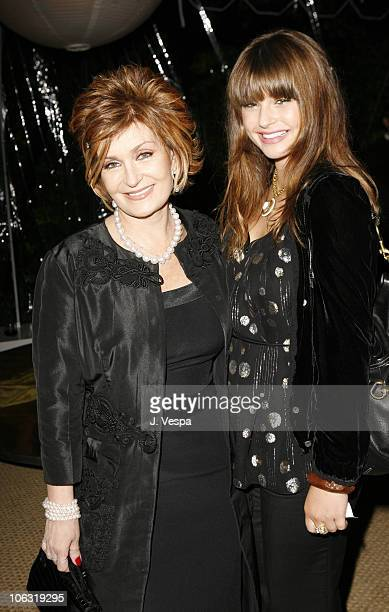 Sharon Osbourne and Aimee Osbourne during Endeavor 2006 PreOscar Party in Los Angeles California United States