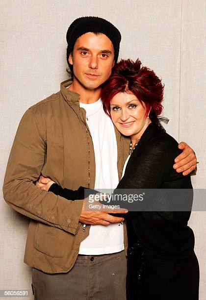 Sharon Osbourne and Gavin Rossdale pose for a portrait to promote the Tsunami relief charity single a cover of the Sir Eric Clapton ballad 'Tears In...