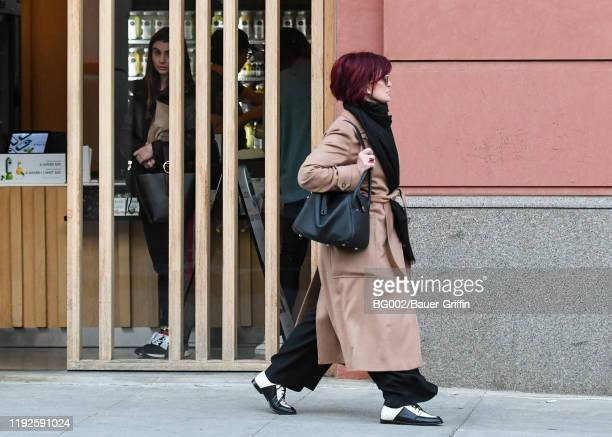 Sharon Osbourne and her daughter, Aimee are seen on January 08, 2020 in Los Angeles, California.