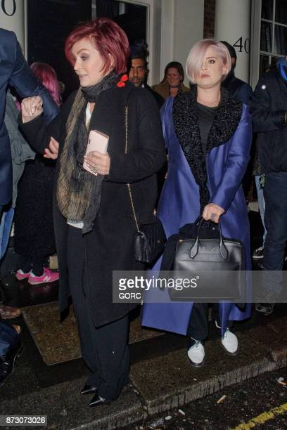 Sharon Osbourne and Kelly Osbourne leaving the Arts Club Mayfair on November 11 2017 in London England