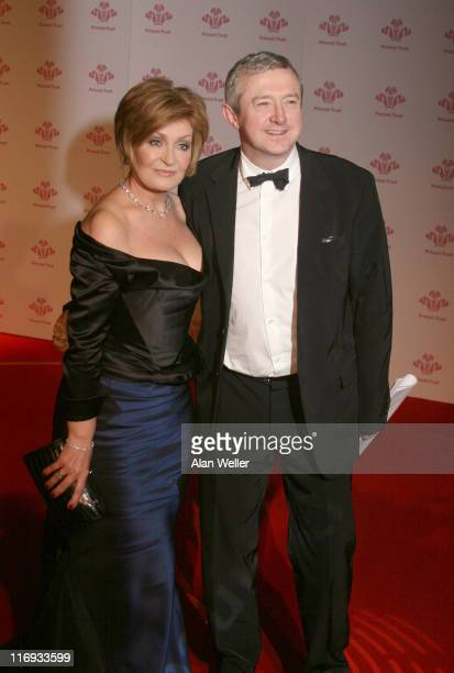 Sharon Osbourne and Louis Walsh during The Prince's Trust Gala Dinner at The Roundhouse in London Great Britain