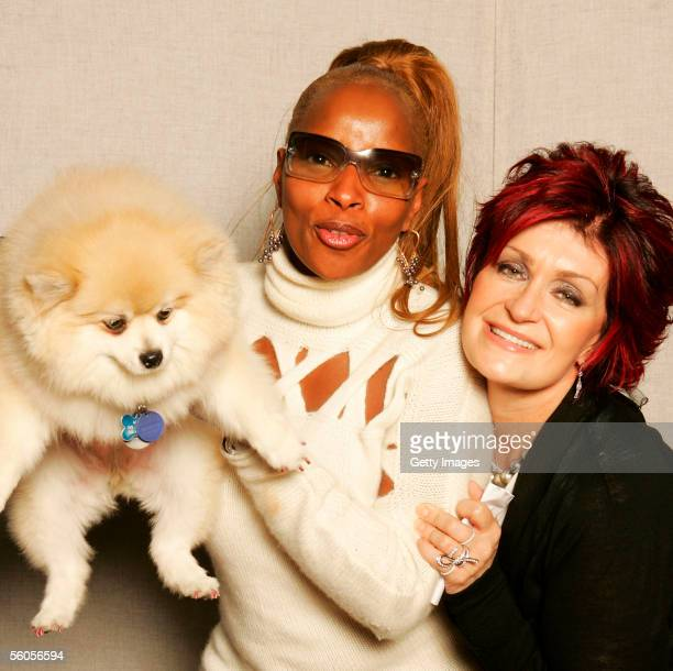 Sharon Osbourne and musical artist Mary J Blige pose for a portrait to promote the Tsunami relief charity single a cover of the Sir Eric Clapton...