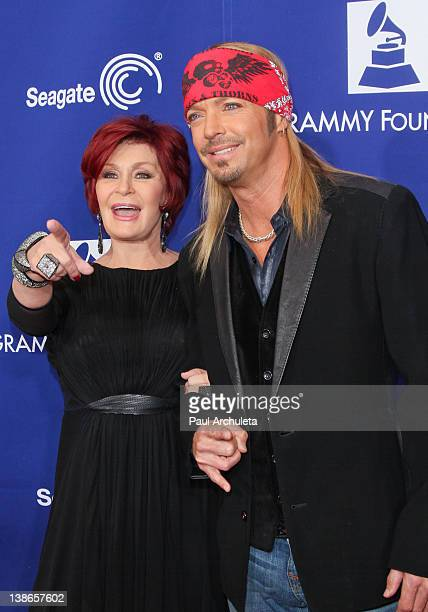 Sharon Osbourne and Musician Bret Michaels attend the GRAMMY Foundation's 14th annual music preservation project One Night Only A Celebration Of The...