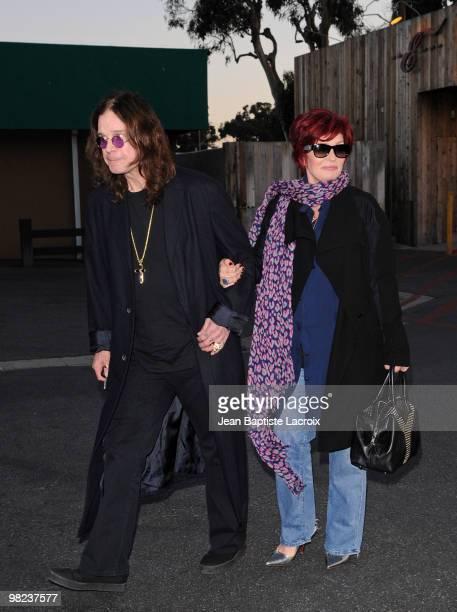 Sharon Osbourne and Ozzy Osbourne are seen on April 3 2010 in Malibu California