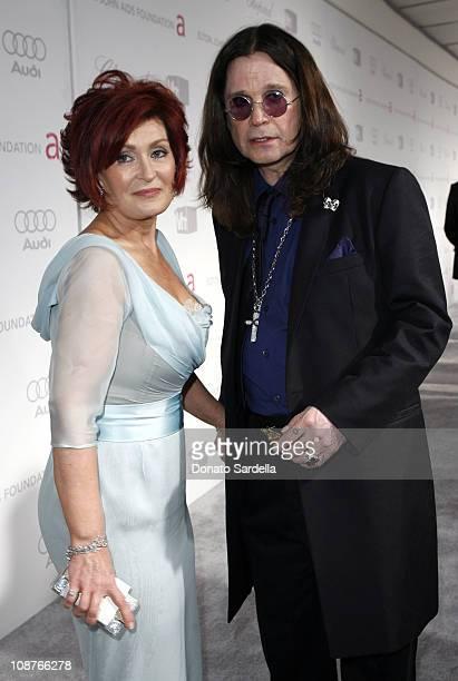 Sharon Osbourne and Ozzy Osbourne at Elton John AIDS Foundation Oscar Party Sponsored by Audi