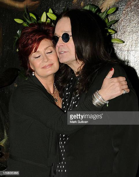 Sharon Osbourne and Ozzy Osbourne at the preview of Sharon Osbourne and Ozzy Osbourne's auction of furnishings art and memorabilia held at the Gibson...