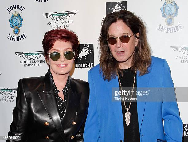 Sharon Osbourne and Ozzy Osbourne attend the VIP opening reception for 'DisEase' an evening of fine art with Billy Morrison at Mouche Gallery on...