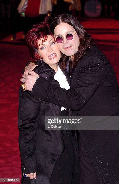 Sharon Osbourne and Ozzy Osbourne during 'Bridget Jones The Edge of Reason' London Premiere Outside Arrivals at Odeon Leicester Square in London...