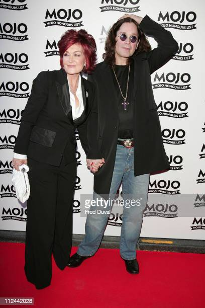 Sharon Osbourne and Ozzy Osbourne during MOJO Honours List 2007 Arrivals at The Brewery in London Great Britain
