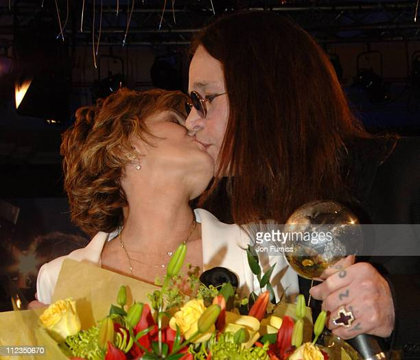 Sharon Osbourne and Ozzy Osbourne during O2 Silver Clef Lunch 2006 Inside at Park Lane Hilton in London Great Britain