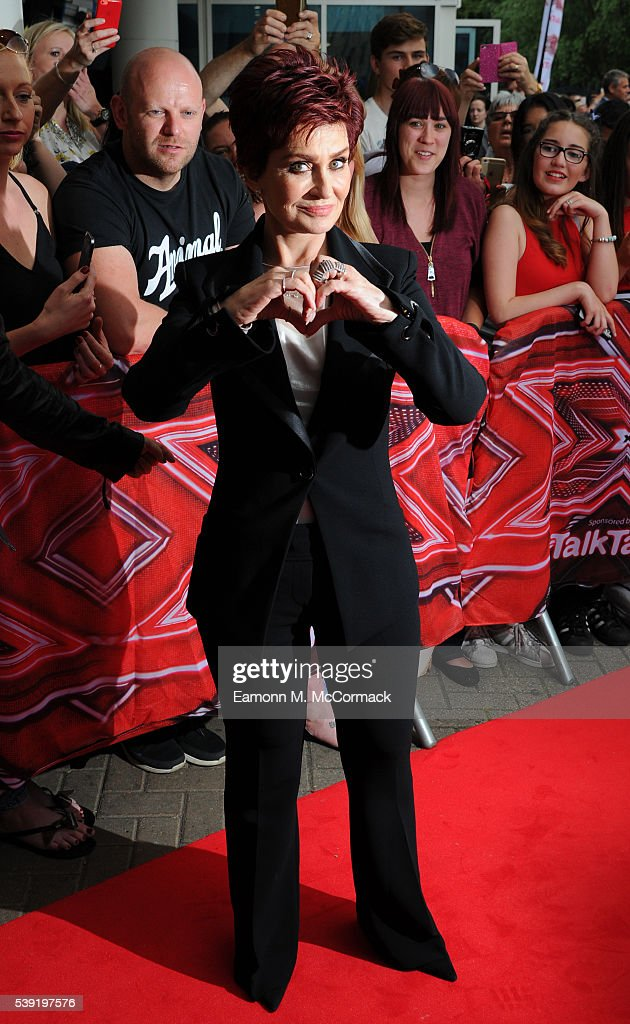 Sharon Osbourne arrives for the first X Factor auditions of 2016 on June 10, 2016 in Leicester, United Kingdom.