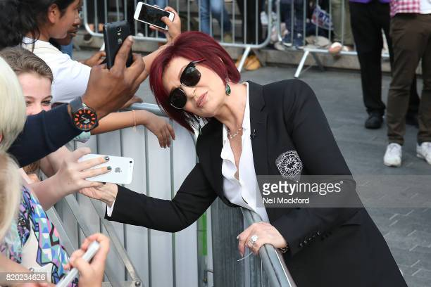 Sharon Osbourne arriving at The X Factor Bootcamp auditions at Wembley Arena on July 21 2017 in London England