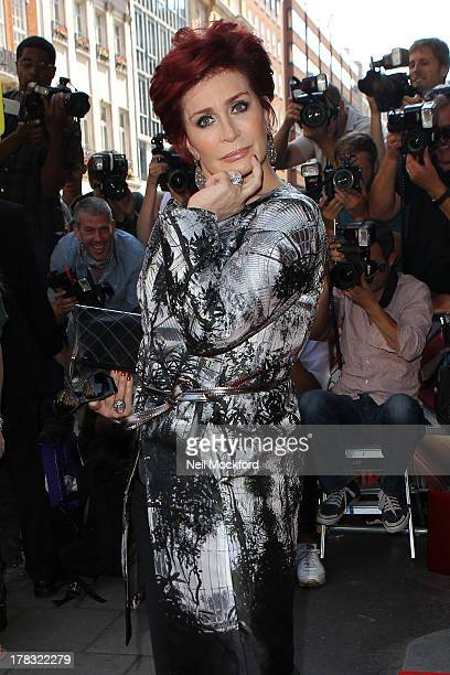 Sharon Osbourne at The Mayfair Hotel for The X Factor press launch on August 29 2013 in London England