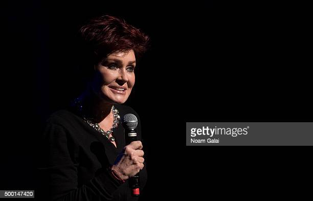 Sharon Osbourne attends the 5th Annual 'Cyndi Lauper and Friends Home For The Holidays' benefit concert at The Beacon Theatre on December 5 2015 in...