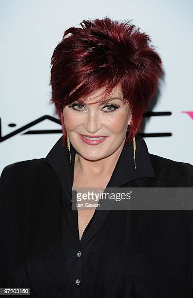 Sharon Osbourne attends the Mac VIva Glam Launch which she is also hosting at Ill Bottaccio on March 1 2010 in London England