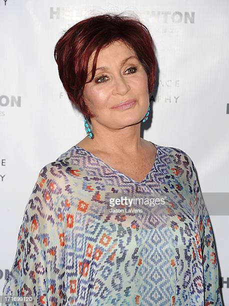 Sharon Osbourne attends the opening of 'Helmut Newton White Women Sleepless Nights Big Nudes' at Annenberg Space For Photography on June 27 2013 in...