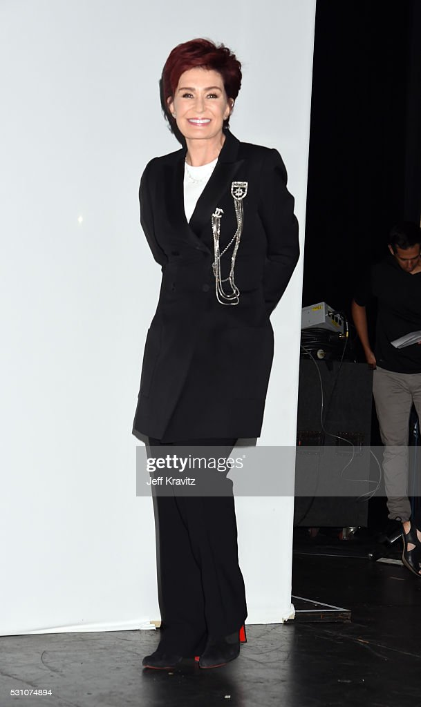 Sharon Osbourne attends the Ozzy Osbourne and Corey Taylor Special Announcement on May 12, 2016 in Hollywood, California.
