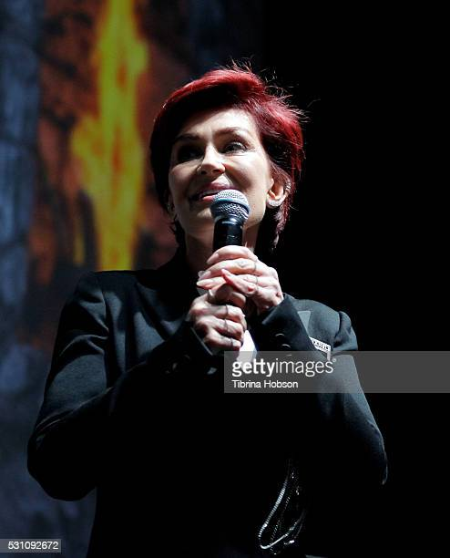 Sharon Osbourne attends the Ozzy Osbourne and Corey Taylor special announcement press conference on May 12 2016 in Hollywood California