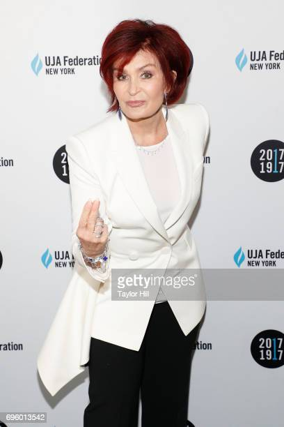 Sharon Osbourne attends the United Jewish Appeal Federation Of New York's 2017 Music Visionary Of The Year Award Luncheon at The Pierre Hotel on June...