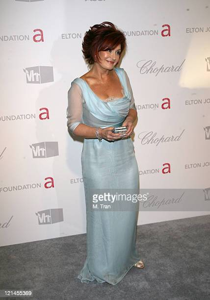 Sharon Osbourne during 15th Annual Elton John AIDS Foundation Oscar Party at Pacific Design Center in Los Angeles California United States