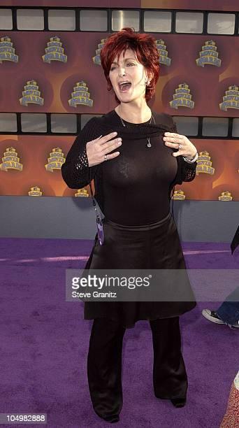 Sharon Osbourne during 2002 MTV Movie Awards Arrivals at Shrine Auditorium in Los Angeles California United States