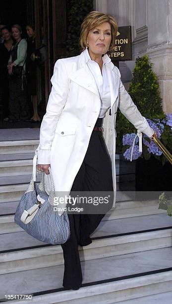 Sharon Osbourne during Beyonce Knowles and Sharon Osbourne Leaving the Mandarin Oriental Hotel in London August 16 2006 at Mandarine Oriental Hotel...