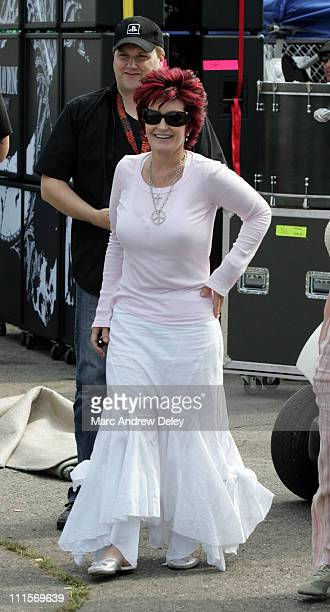 Sharon Osbourne during Ozzfest 2005 10th Anniversary Tour Opener Backstage July 15 2005 at Tweeter Center in Mansfield Massachusetts United States