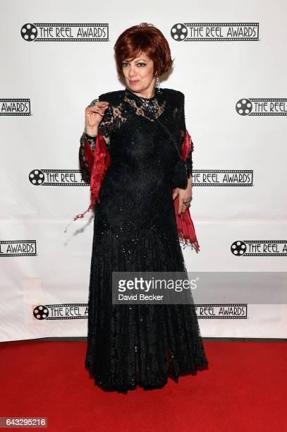Sharon Osbourne impersonator Caroline Bernstein of the United Kingdom attends The Reel Awards 2017 at the Golden Nugget Hotel Casino on February 20...