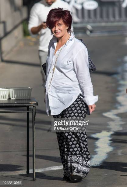Sharon Osbourne is seen at 'Jimmy Kimmel Live' on September 27 2018 in Los Angeles California