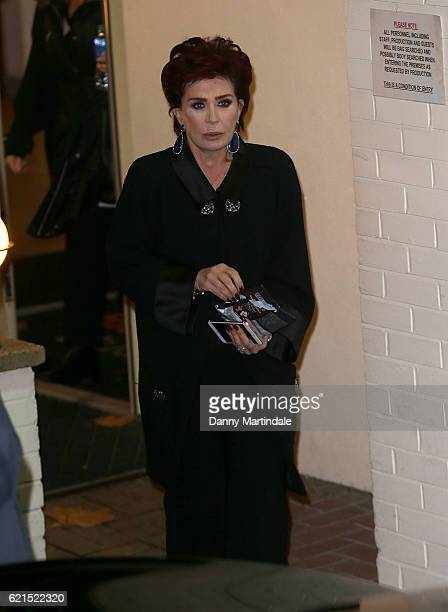 Sharon Osbourne is seen leaving Fountain Studios after filming the X Factor on November 6 2016 in London England