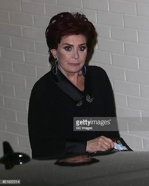 Sharon Osbourne is seen leaving Fountain Studios after fiming X Factor on November 6 2016 in London England