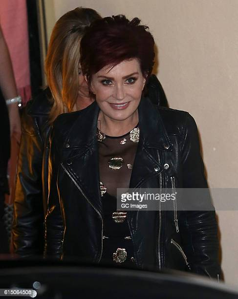 Sharon Osbourne is seen leaving the Fountain Studios after the X Facor on October 16 2016 in London England