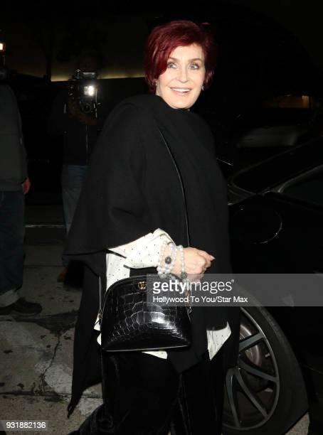 Sharon Osbourne is seen on March 13 2018 in Los Angeles California