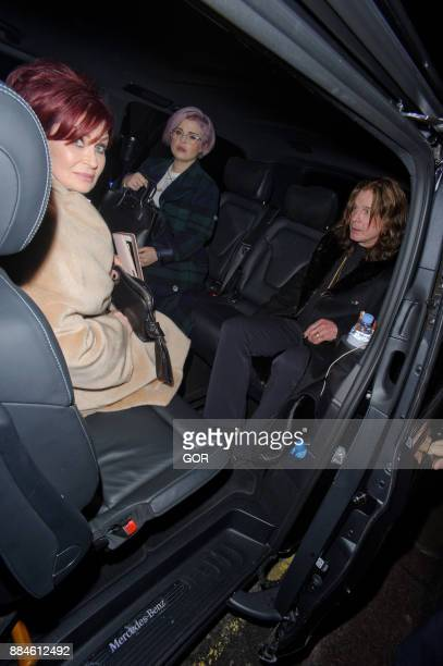 Sharon Osbourne Kelly Osbourne and Ozzy Osbourne are seen leaving leaving the Arts Club Mayfair on December 2 2017 in London England